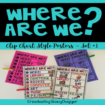 Where Are We?  Clip Chart Poster Set 1