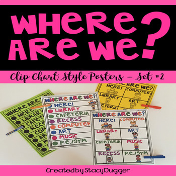Where Are We?  Clip Chart Poster - Set 2