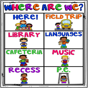 Where Are We?  Clip Chart Poster - Set 3