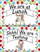Where Are We? D'Nealian Classroom Helper Posters Multi Dots