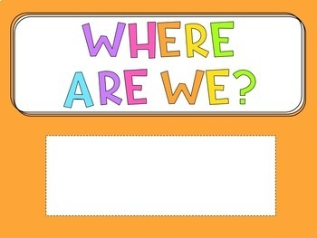 Where Are We Display Sign