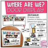 Where Are We? Door Display - Kids Edition {EDITABLE}