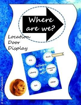 Where Are We? Door Display