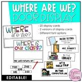 Where Are We? Door Display {EDITABLE}