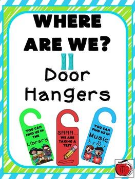 Where Are We Door Hangers