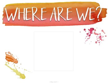 Where Are We? Door Sign {Warm & Sunny Watercolor}