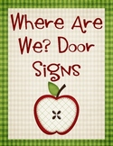 Where Are We Door Signs Apple Theme