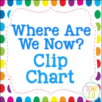 Where Are We Now Clip Chart Rainbow Polka Dots White