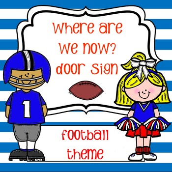 Where Are We Now Door Sign - Football
