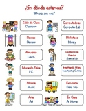 Where Are We?- Outside Classroom Poster (Spanish/English)