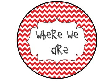 Where We Are Red Chevron Posters