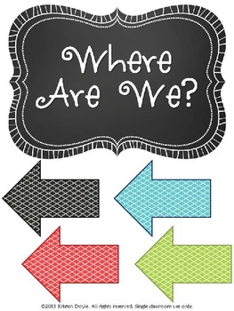 Where Are We? Sign Kit