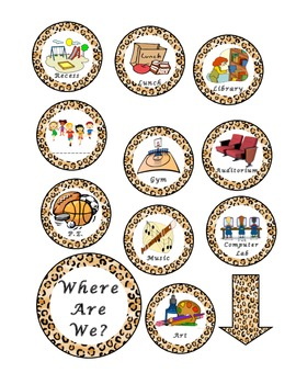 Where Are We Sign - Leopard