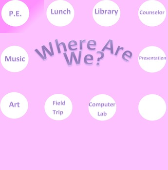 Where Are We Sign (Pink and White Polka Dot Theme)