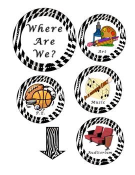 Where Are We Sign - Zebra
