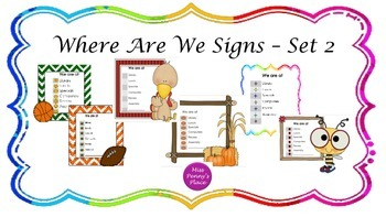 Where Are We Signs - Set 2