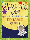 Where Are We? Space Themed Door Poster
