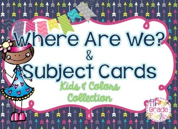 Where Are We? & Subject Cards - Kids & Colors Collection