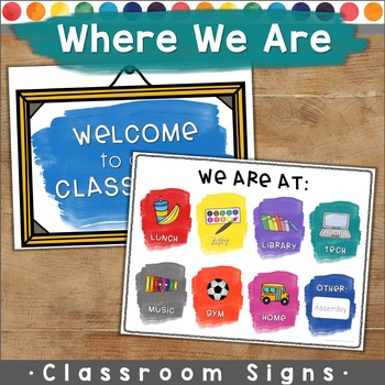 Where Are We / Welcome Sign