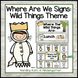 Where The Wild Things Are Door Signs