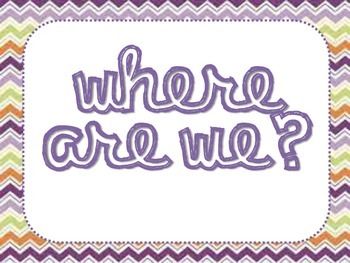 Where Are We? class location chart/poster/sign