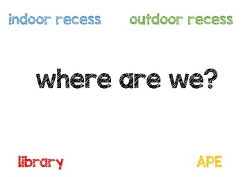 Where Are We? door sign