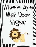 Where Are We door signs Jungle