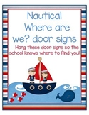 Where Are We door signs Nautical