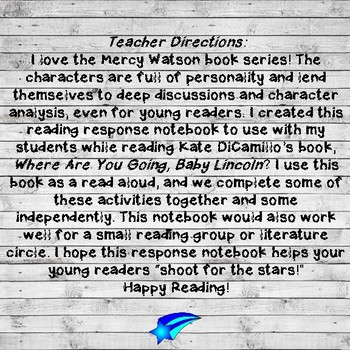 Where Are You Going, Baby Lincoln? Reading Response Activities