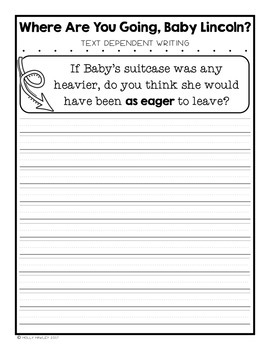 Where Are You Going, Baby Lincoln? Text Dependent Questions