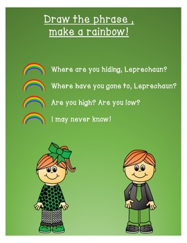 Where Are You Hiding, Leprechaun?Song for Teaching High and Low! Orff Ostinatos!