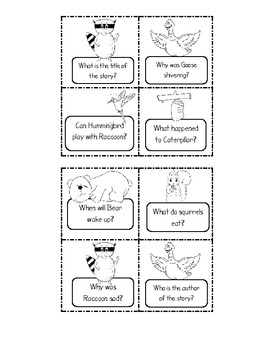 """""""Where Are my Animal Friends?"""" Comprehension Questions/Writing Center"""
