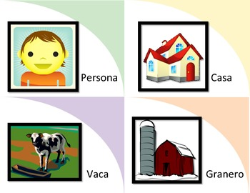 Where DO animals Live? Flash Card Picture Association--SPANISH