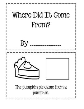 Where Did It Come From? - Thanksgiving Cut And Paste Book