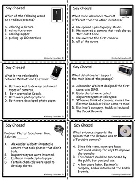 Early Technology: Non-Fiction passages & ELA Skill Review