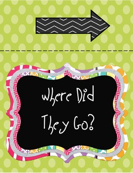 Where Did They Go? Classroom Display