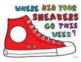 Where Did Your Sneakers Go This Week? BULLETIN BOARD ART