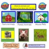 Where Do Animals Live - Real Photo Boom Cards