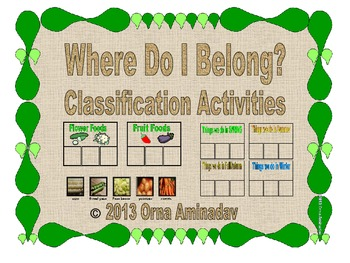 Where Do I Belong- Classification Activities