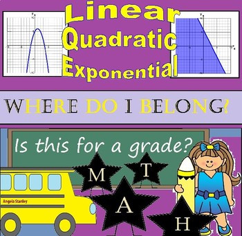 Where Do I Belong? Linear, Quadratic, and Exponential Functions