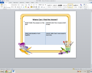 Where Do I Find the Answer? Poster Flyer Worksheet