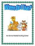 Where Do I Live: An Animal Habitat Sorting Centre