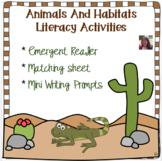 Animals and Habitats Literacy Activities