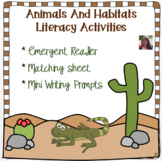 Animals and Habitats Literacy Activities  Distance Learning