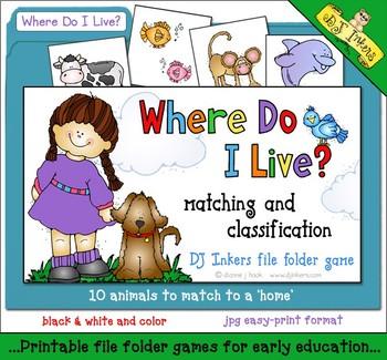 Where Do I Live? File Folder Game Download