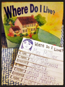 Where Do I Live? Geography Reading Writing Visual Art Book Making