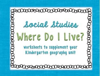 Where Do I Live Social Studies for Kindergarten