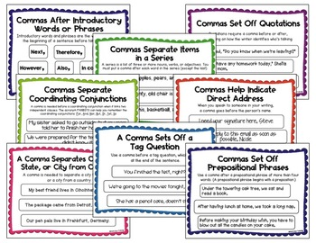 Where Do I Put the Comma? {Interactive Activities for the Writer's Workshop}