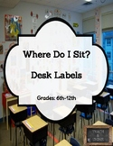 Where Do I Sit? Desk Labels