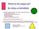 Where Do The Shapes Go? Position Worksheet